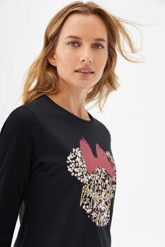 Cortefiel Disney Minnie Mouse T-shirt Black