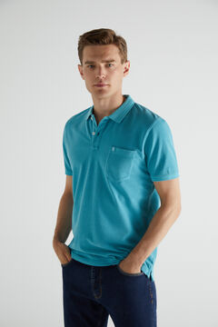 Cortefiel Short-sleeved logo polo shirt Bluejeans