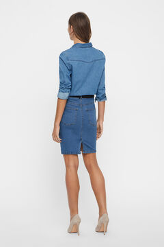 Cortefiel Denim skirt  Royal blue