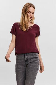 Cortefiel Essential LencingTM EcoveroTM T-shirt Plum