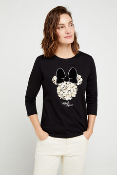 Cortefiel Organic cotton Minnie Mouse t-shirt Black