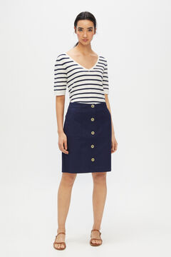 Cortefiel Short piqué skirt Navy