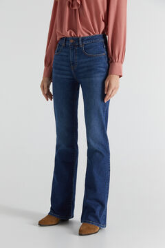 Cortefiel Bell-bottom jeans Royal blue