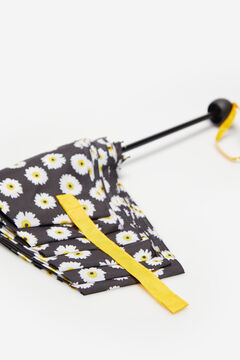 Cortefiel Floral print umbrella Black