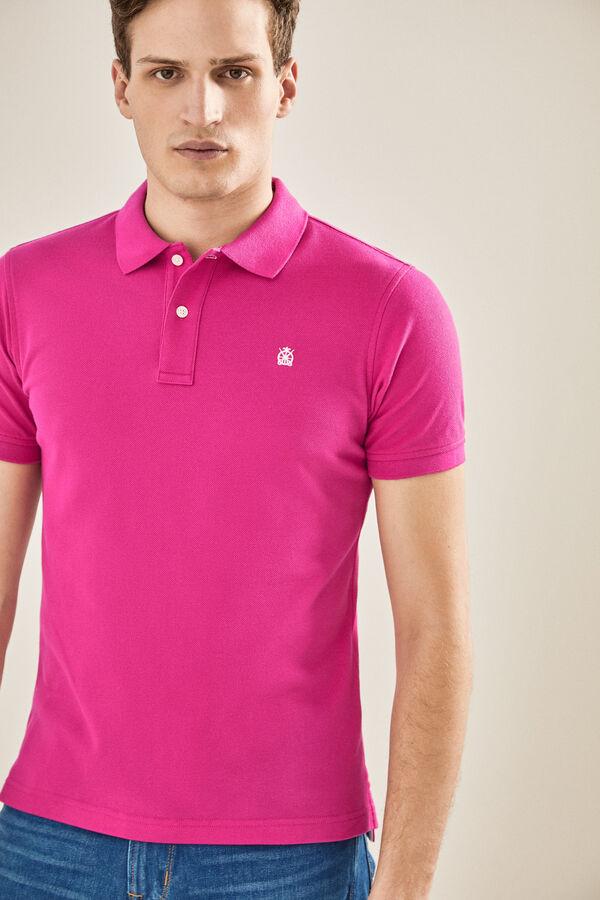 9a15811e3 Cortefiel Basic short-sleeved polo shirt Purpura