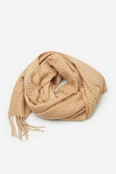 Cortefiel Jacquard scarf Yellow