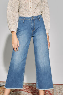 Cortefiel Wide leg jeans Royal blue