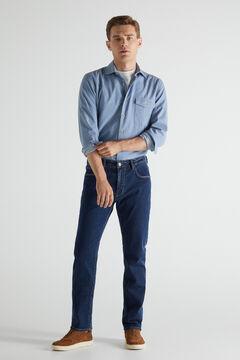 Cortefiel Jeans extra suaves regular desbotada Azul