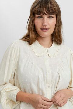 Cortefiel Camisa básica Curve Beige