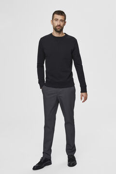 Cortefiel Organic cotton sweatshirt Black