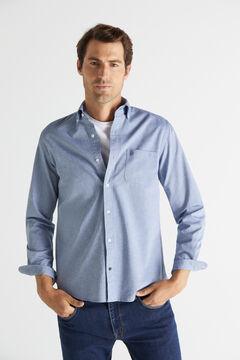 Cortefiel Plain organic cotton Oxford shirt Green