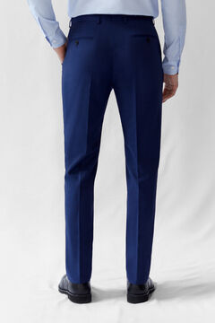 Cortefiel Deep blue tailored fit COOLMAX® trousers Royal blue