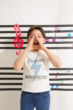 Cortefiel Camiseta infantil Perfectos Imperfectos White