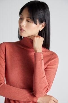 Cortefiel Camisola gola dobrada Vermelho