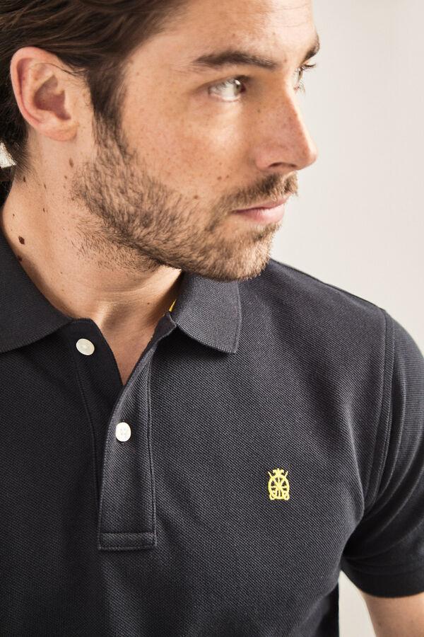 f3131a7fb Cortefiel Basic short-sleeved polo shirt Black