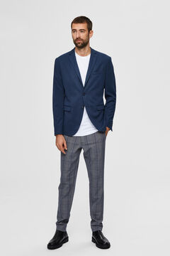 Cortefiel Lightweight slim fit blazer Royal blue