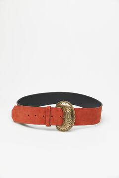 Cortefiel Wide suede belt Mole