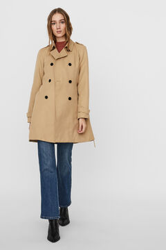 Cortefiel Double breasted trench coat White