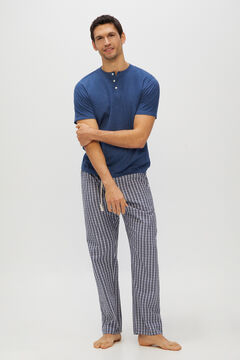 Cortefiel Jersey-knit and cotton pyjamas Blue jeans