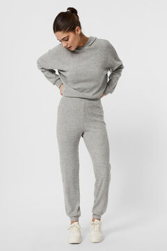 Cortefiel Ribbed trousers Gray