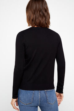 Cortefiel Lurex trim jacket Black
