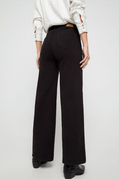 Cortefiel Denim palazzo trousers - sustainable wash Black