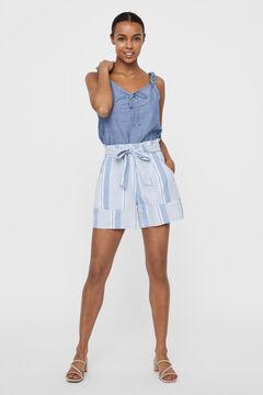 Cortefiel Striped shorts Royal blue