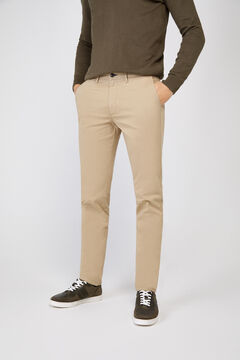 Cortefiel Essential slim fit lightweight chinos Camel