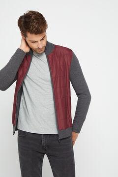 Cortefiel Zipped jacket Gray