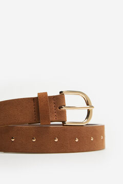 Cortefiel Double buckle belt Vanilla