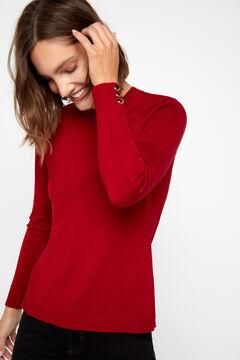 Cortefiel Crew neck sweater Redgarnet