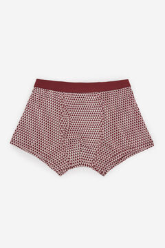 Cortefiel Printed jersey-knit boxers Fuchsia