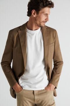 Cortefiel Jersey-knit blazer Mole