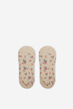 Cortefiel Floral no-show socks Grey
