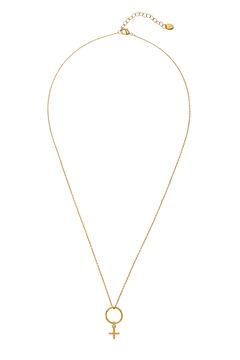 Cortefiel Collar midi FEMME - Cristal - Oro Amarillo
