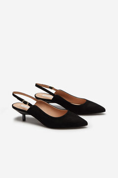 Cortefiel Slingbacks with block heels Black