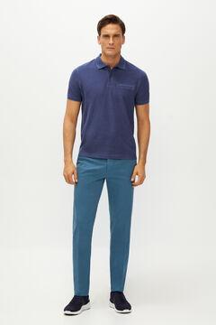 Cortefiel Calças cintura elástica estrutura slim fit Azul