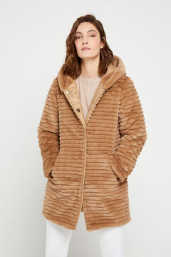 Cortefiel Long reversible coat Brown