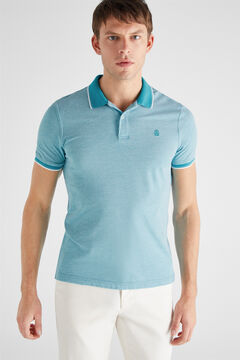 Cortefiel Essential short-sleeved polo shirt Royal blue