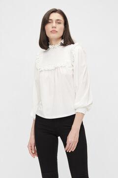Cortefiel Blusa manga larga sostenible Blanco