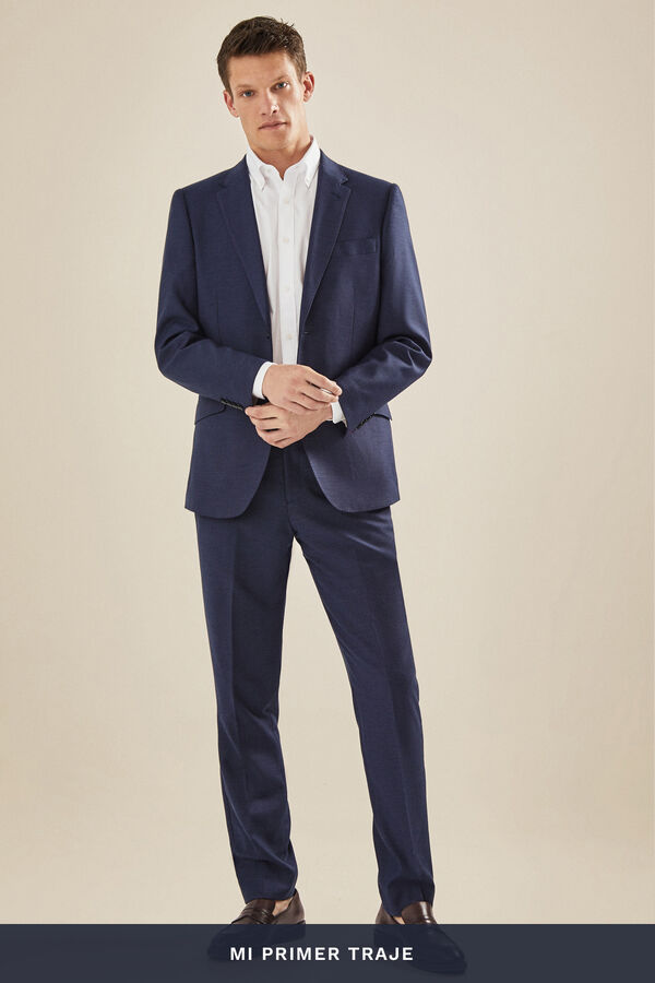 a205387af Cortefiel Americana traje azul slim fit Azul