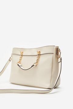 Cortefiel XL woven shopper bag White