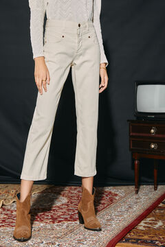 Cortefiel Straight cropped jeans Brown
