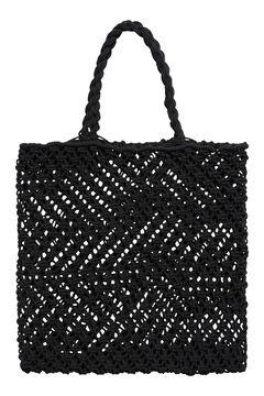 Cortefiel Plaited knot bag Black