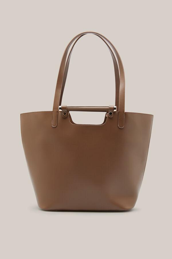 Cortefiel Per Bag With Bar Mink