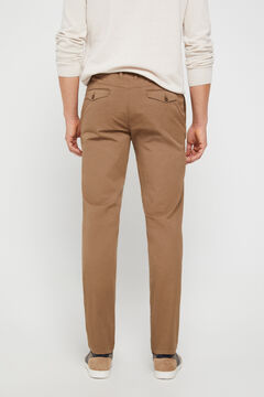 Cortefiel Slim fit chinos with yoke Mole
