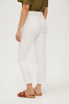 Cortefiel 5-pocket skinny trousers White