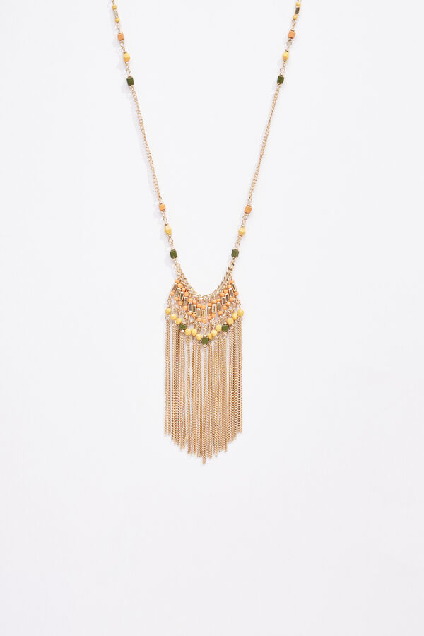 7c1b0b9468 Cortefiel Fringe pendant necklace Printed