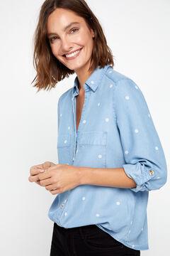 Cortefiel Lyocell cargo shirt Blue