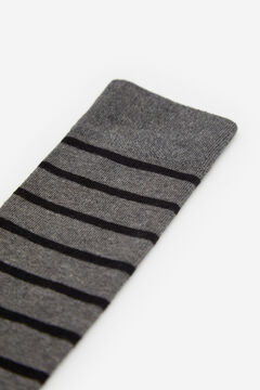Cortefiel Two-tone striped socks Dark gray
